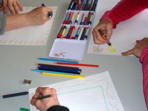 malende Hände